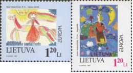 Lietuva Litauen 1997 Mi. Nr. 636-637 Europe Tales And Legends