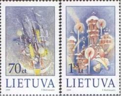 Lietuva Litauen 1999 Mi. Nr. 715-716 Christmas