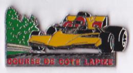 Pin's Automobile Course De Côte Lapize, Métal émail - Badges