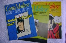 PDA/1 Rivista Mensile Di Fumetti - CORTO MALTESE N.1-2-3 1983 PRATT-MANARA-PAZIENZA-CREPAX.... - Corto Maltese