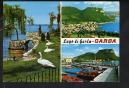 Q1928 CARTOLINA Di GARDA In Prov. Di Verona - Multipla Con Cigni - NON VIAG. - VENETO, ITALIA - Altre Città