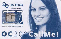 Germany-mint SIM Karte, Mit Modernster Offsetdruck-Technologie Hat KBA-MePrint AG Die OC 200 Ausgerüstet, Different Chip - Ohne Zuordnung