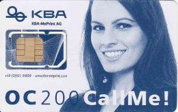 Germany-mint SIM Karte, Mit Modernster Offsetdruck-Technologie Hat KBA-MePrint AG Die OC 200 Ausgerüstet, Different Chip - Andere Sammlungen