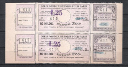 COLIS ¨POSTAUX DE PARIS POUR PARIS - MAURY N°188 BLOC DE 2 - COTE 110€ - Neufs