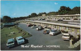 Montréal: FORD RANCH WAGON '59, CHEVROLET BEL AIR '58 & IMPALA '59 - Motel Raphaël, Metropolitan Blvd - Voitures De Tourisme