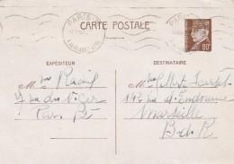 Entier Postal Yvert 512 CP2 Cachet Flamme Paris 73 Rue Du Rendez Vous 15/12/1941 Pour Marseille - Ganzsachen
