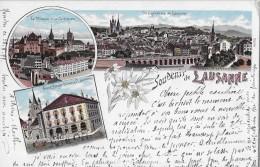 LAUSANNE → Souvenir De Lausanne, Litho-Karte 1899 - VD Vaud