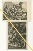 2 AK HDK Nr. 499 Und 531 - Grenadiere - MG - Weltkrieg 1939-45