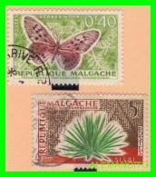 MALGACHE ,MADAGASCAR RÉPUBLIQUE - 2 SELLOS - Madagascar (1960-...)