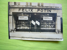 Pub Photo Magasin Félix Potin Tampon Au Dos Ed. Schenck Ferronnerie Paris - Publicités