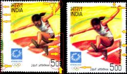 ATHLETICS-ATHENS OLYMPICS-MASSIVE ERROR-SCARCE-INDIA-2004-MNH-TP-268 - Summer 2004: Athens - Paralympic