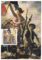 Carte-Maximum FRANCE  N° Yvert 3236 (DELACROIX - LA LIBERTE) Obl Sp Ill 1er Jour (Ed Musées Nationaux) - Cartoline Maximum