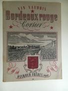 907 -  Rare Ancienne étiquette Bordeaux Rouge Vin Vaudois De Corsier Suisse - Violen