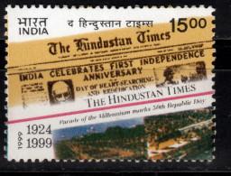 INDIA- 1999-Hindustn Times Newspaper- Diamond Jubilee- MNH