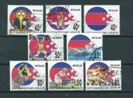 1989 New Zealand Complete Set Commonwealth Games,sport Used/gebruikt/oblitere - Neuseeland