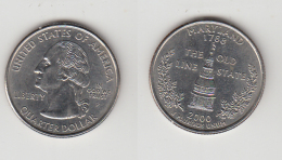 QUARTER  DOLLAR - 2000 P - .MARYLAND - 1999-2009: State Quarters