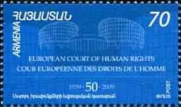 Armenia Armenien 2009 Mi. 666 50th Aniv. Of Human Rights Court - Armenia