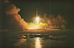 CPSM JOHN F KENNEDY SPACE CENTER N.A.S.A.  THE APOLLO 17 SPACE VEHICLE LIFTE OFF FROM LAUNCH - Astronomie