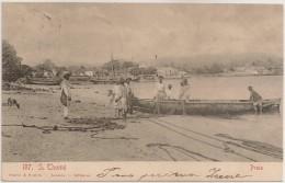 Postal S. Tomé E Principe - S. Thomé - Praia (Ed. Osorio & Seabra) - PostCard - CPA - Sao Tome Et Principe