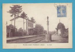 CPSM - Chemin De Fer La Gare FLEZ-CUZY-TANNAY 58 - France