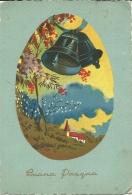 BUONA PASQUA  Panorama Con Chiesetta  Campane  Ring  Cloche - Pasqua