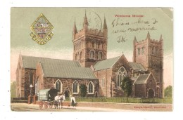 CPA  Royaume Uni WIMBORNE MINSTER Church  Horse Cart  Eglise Attelage Cheval 1919 - Angleterre