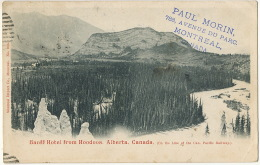 Banff Hotel From Hoodoos Alberta On The Line Of The Canadian Pacific Railway Edit Montreal 655 Used To Agen 1904 - Banff