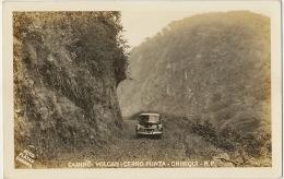 Real Photo Calino Volcan Cerro Punta Chiriqui Foto Flatau American Car - Panama