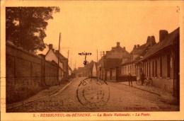 Pas De Calais, Hesdigneul-les-Bethune, La Route Nationale, La Poste   (bon Etat) - Other Municipalities