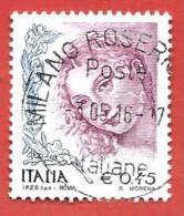 ITALIA REPUBBLICA USATO  - 2004 - Donne Nell´arte  Ritratto Di Donna Di Tiziano Vecellio - € 0,45 - S. 2726 - 6. 1946-.. Repubblica