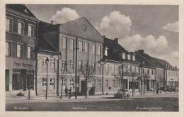 AK Preussisch Eylau Bagrationowsk Kirchenstrasse Rathaus Hotel Gasthof ? Bei Königsberg Kaliningrad Ostpreussen Bahnpost - Ostpreussen