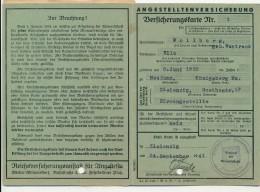 ZIELENZIG - 1941 , Angestelltenversicherungs-Karte 1941/2 Mit Beitragsmarken - Historische Dokumente