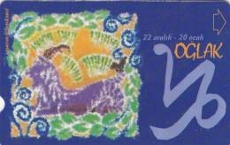 Turkey, N-287, Zodiac, Oglak - Capricorn, 2 Scans. - Turquie