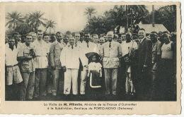 Pierre Pflimlin Né à Roubaix Ministre Outre Mer A Porto Novo Louis Thibaud Et Alsacienne Noire 1953 - Dahomey
