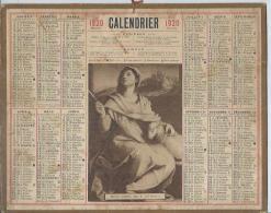 ALMANACH DES POSTES 1920 ( CALENDRIER ) SAINTE AGNES, Par A. DEL SARTO - Calendriers