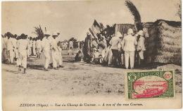 Zinder Niger Vue Du Champs De Course Race Courses Hippisme  Timbrée Non Voyagé - Niger