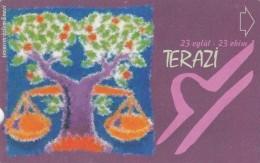 Turkey, N-284, Zodiac, Terazi - Libra, 2 Scans. - Turquie