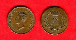 HENRI V - MODULE DE 5 FRANCS 1831 - BRONZE 37mm - SUP - TRES RARE- GADOURY 650 - GUILLOTEAU 2689 - France