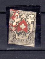 Croix-blanche Encadrée, Poste Locale SUISSE, 16 Oblitéré, Cote 1700 €, - 1843-1852 Federale & Kantonnale Postzegels