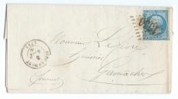 LETTRE 20 C  EMPIRE  FOUCARMONT   A  GAMACHES  GC - 1849-1876: Klassieke Periode