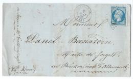 LETTRE 20 C  EMPIRE  CHEVILLON  A WASSY - Marcophilie (Lettres)