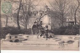Cp , 75 , PARIS , Monument D'Eugène Delacroix Au Luxembourg - Other Monuments