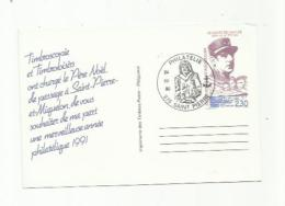 SAINT-PIERRE-et-MIQUELON  :  Entier Postal  Repiquage    30 CPa    De Gaulle - Postal Stationery