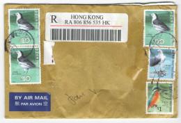 HONG KONG - 20?? - 5 Stamps With Birds - Air Mail - Registered - Viaggiata Da Hong Kong - 1997-... Région Administrative Chinoise