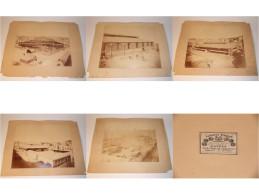 Alphonse Bernoud : 5 Photographies Grand Format  : Bâtiment En Construction à Identifier (V008) - Photographs