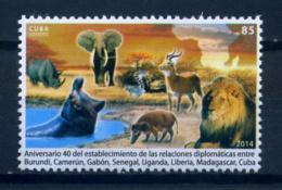 Cuba 2014 / Mammals African Animals Fauna MNH Fauna Africana Mamiferos Säugetiere / C7825   32 - Sellos