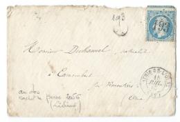 LETTRE 20 C  EMPIRE   ATHIS DE L'ORME  A  VIMOUTIERS  GC - Marcophilie (Lettres)