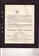 HASSELT BERINGEN Jean-Michel CEYSENS Veuf NAUS Ancien Conseiller Communal 1833-1927 Association Presse Belge - Todesanzeige