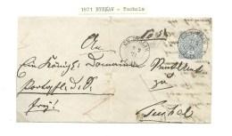 1871.ENTIRE  LETTER. GERMAN  OCCUPATION. BYSŁAW--TUCHOLA . - Poland