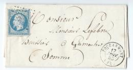 LETTRE 20 C EMPIRE N°14   FOUCARMONT A  GAMACHES   PC - 1849-1876: Klassieke Periode